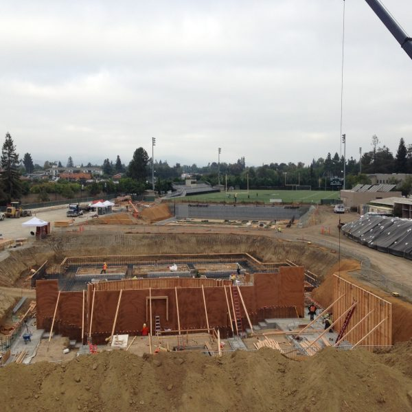 Construction on PA and Athletics Centers Moves Ahead with First Concrete Pour