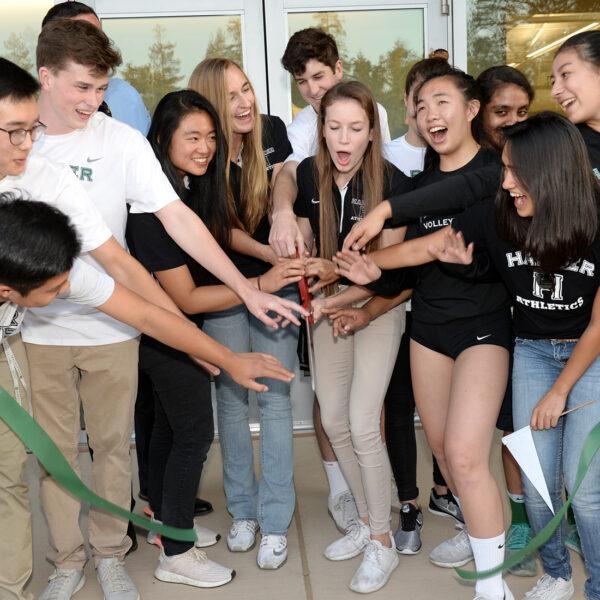 Harker Athletic Center opens, hundreds attend celebration