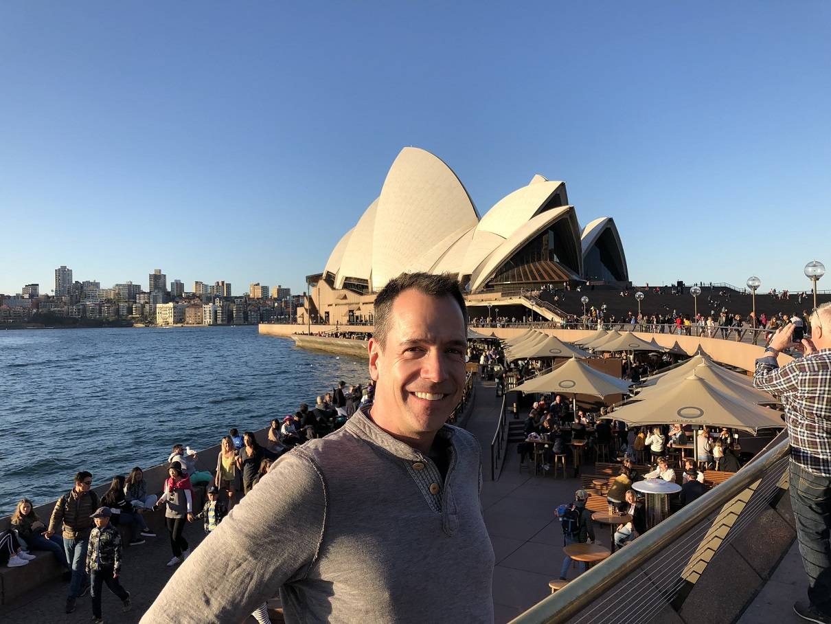 Theater teacher visits Australia on exchange with St